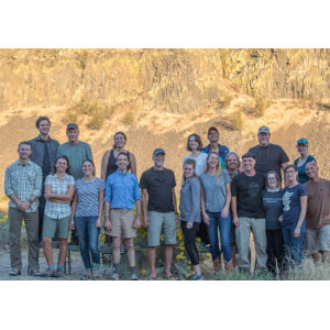 The Conservation Northwest team at our recent Staff Retreat in Moses Coulee. Photo: Paul Bannick